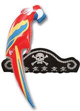 Sombrero De Pirata & Inflable Parrot parott Chicos Chicas Niños Fancy Dress Costume