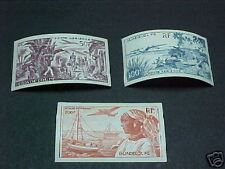 Guadeloupe Scott #C10-12 Mint Lh Imperf Bananas/Harbor