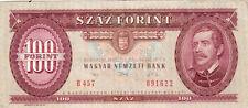 Billet banque HONGRIE HUNGARY MAGYAR 100 FORINT 1992 état voir scan 622
