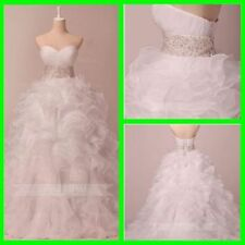 Beading Organza Ball Gown/Dutchess Plus Size Wedding Dresses
