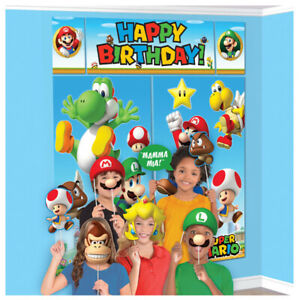 Super Mario Brothers Wall Banner Scene Setters with Props