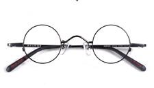 Small Retro Steve Jobs eyeglasses mens gun gold round glasses RX optical lenses