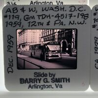 Vintage Commuter Bus Slide Washington DC Transportation 35mm Copy of 1959