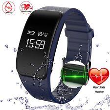SALE Getfitsoo Sport Fitness Tracker Heart Rate Monitor Smart Bracelet Blue