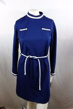 Vintage Vicky Vaughn Junior Long Sleeve Dress Size 13 100% Polyester NWT