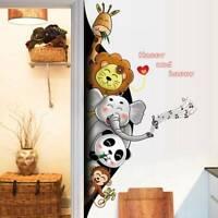 Lustige Tiere Cartoon Wandaufkleber Kinderzimmer Kleiderschrank Aufkleber eNwrg