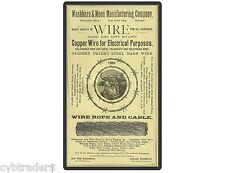 Antique Barbed Wire Ad 1886  Refrigerator / Tool Box Magnet / Man Cave