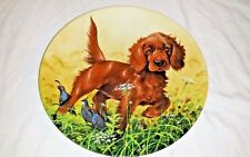 Puppy Dog Lovers Decorative Plate Knowles Irish Setter Gift Collectible
