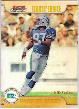 1999 BOWMAN CHROME SCOUTS CHOICE REFRACTOR: KARSTEN BAILEY #SC19 SEAHAWKS ROOKIE