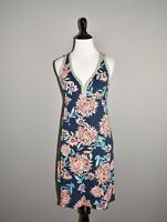 LUCKY BRAND $79 Navy Floral Sleeveless Knit Shift Dress XS