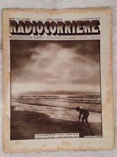 RADIOCORRIERE EIAR 1931 VII N° 37 PUBBLICITA' JENSEN, AUDIOLA, ATWATER KENT