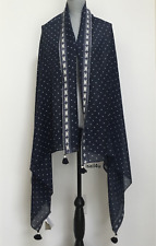 J.Crew Polka Dot Wool Scarf With Tassels NWT