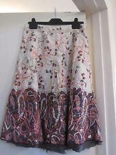 Miss Selfridge Multicoloured Floral Cotton Long Skirt in Size 6