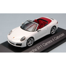 PORSCHE 911 CARRERA 4 CABRIOLET WHITE 1:43 Herpa Auto Stradali Die Cast
