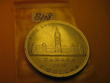 Rare 1939 Canada Silver Dollar ID #B108.