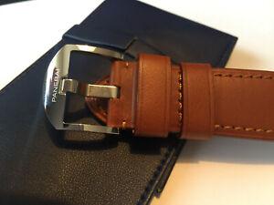 Original Panerai Armband Kalbsleder braun mit original Panerai-Schließe