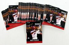 100 2004 ALBERT PUJOLS JUST MINORS CARD ROOKIE LOT ANGELS CARDINALS AP5 HOF MINT