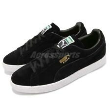 Puma Suede Classic Black Gold White Men Casual Shoes Sneakers 352634-87