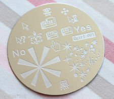 Nail Art Stamping Schablone Stern Qgirl 1 stainless steel Metall image plate