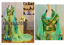 China Kimono Lilac Fairy Girl's Green Dress Cosplay Custom Made Han Fu Hand Made