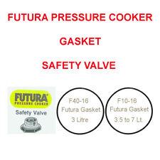 Futura Pressure Cooker Safety Valve / Sealing Gasket / Screw F10-16, F40-16, F10