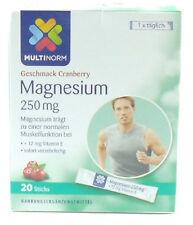 Multinorm Magnesium Direkt ohne Wasser 250mg+Vitamin E 12mg 1x20 Sticks (203C)