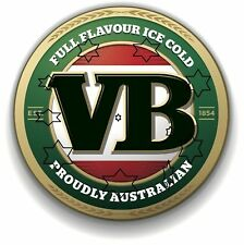 VB BEER VIC BITTER DECAL STICKER LABEL 9 INCH DIA 230 MM HOT ROD FRIDGE BAR