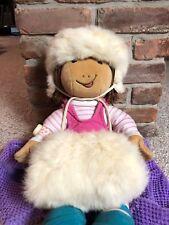 Vintage Rabbit Fur Hat and Muff - girls
