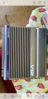 2 Alpine MRV-F300 Amplifiers with 3 KTE-100M amplifier links.