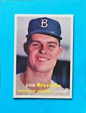 1957 TOPPS Don Drysdale Rc Rookie #18 EX MT