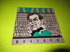 "AWAKE BELIEFS 45 7"" SXE HC STRAIGHT EDGE"