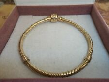 Genuine Authentic Pandora 14ct Gold Barrel Clasp Bracelet 550702 18cm G585 ALE