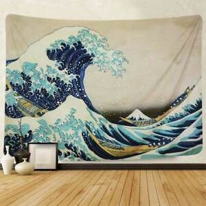 The Great Wave off Kanagawa Printed Fabric Tapestry Home Decor 51x60 inch