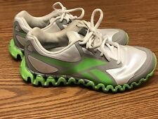 Reebok Zig Nano Women's Silver Green Athletic Running Training Shoe Sz 5.5