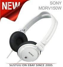 SONY MDR-V150 DJ Headphones for iPod/iPhone/iPad/MP3 Android & Smartphones WHITE