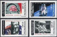Rumania 2000 Gagarin/Aldrin/vuelo espacial/Astronautas/médico/Corazón 4 V Set n45309v