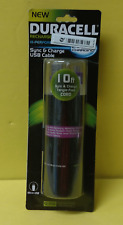 Duracell PRO443 Micro USB Sync & Charge Cable, / 10 Ft. Cord ~ Free Shipping