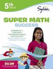 Sylvan Super Workbook: Fifth Grade Super Math Success NEW Paperback