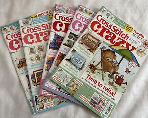 Cross Stitch Crazy Magazines Bundle Job Lot X 5 From 2017 & 2019 - Incomplete