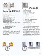 #9840 (25c)-(5c) Eagle & Wetlands Stamps #3207/71 Souvenir Page