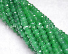"Natural 4x6mm Faceted Emerald Abacus Rondelle Loose Beads 15"" JL240"