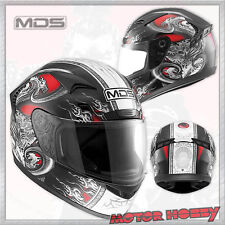 CASCO INTEGRALE MDS BY AGV IN FIBRA SPRINTER CREATURE RED TAGLIA L (59 - 60)