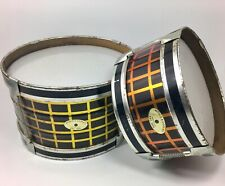 """Rare Vintage Noble And Cooley Childs Drums Metal Shells 10""""x6"""" 8""""x4.5"""" Toms"""