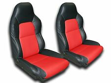 CHEVY CORVETTE C4 1994-1996 IGGEE S.LEATHER CUSTOM FIT SEAT COVER 13COLORS