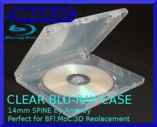 14mm AMARAY Replacement CLEAR Blu-Ray Case (holds 1 disc) - BFI MOC ARROW