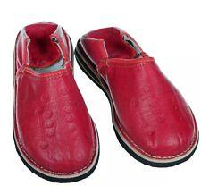 Marokkanische Lederschuhe Orientalische Babouches Rot   43