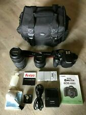 Canon EOS Rebel T3i / EOS 600D Camera with EF-S 18-55mm and EF 75-300mm Lenses