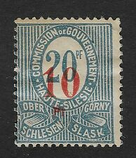 1920, Upper Silesia (Oberschlesien), Surcharged 10/20 pf (X3)