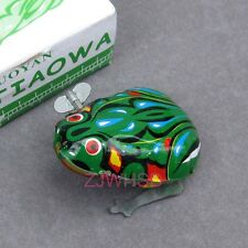 Cute Tin Wind Up Vintage Style Toy Jump Frog / Kids Party Favours Gadget Gift