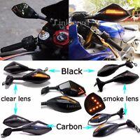 Motorcycle LED Turn Signal Mirrors For Yamaha YZF R1 R6 R6S FZR600 YZF-R1 YZF-R6